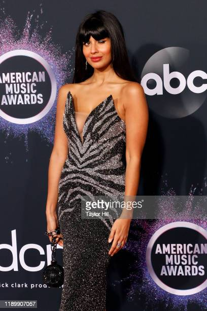 Jameela Jamil attends the 2019 American Music Awards at Microsoft Theater on November 24, 2019 in Los Angeles, California.