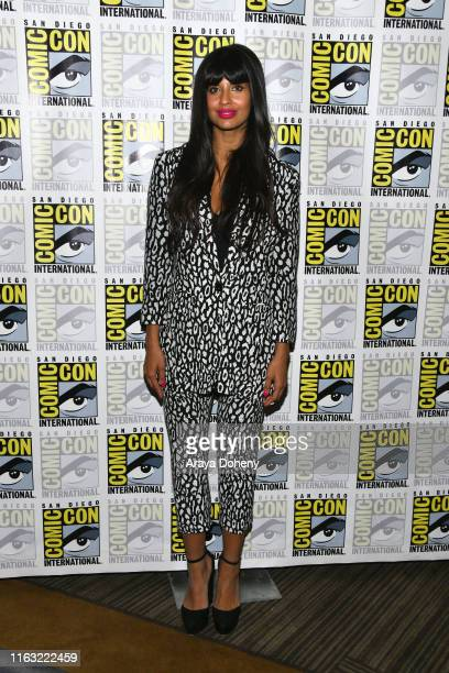 Jameela Jamil attends the 2019 ComicCon International The Good Place Photo Call at Hilton Bayfront on July 20 2019 in San Diego California