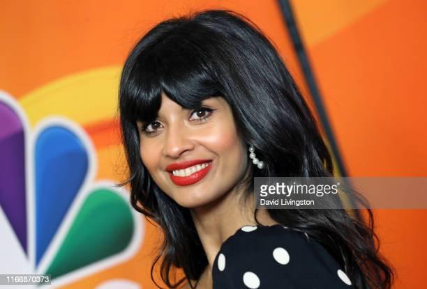 Jameela Jamil attends the 2019 TCA NBC Press Tour Carpet at The Beverly Hilton Hotel on August 08 2019 in Beverly Hills California
