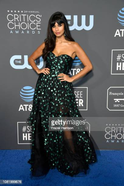 Jameela Jamil attends the 24th annual Critics' Choice Awards at Barker Hangar on January 13 2019 in Santa Monica California