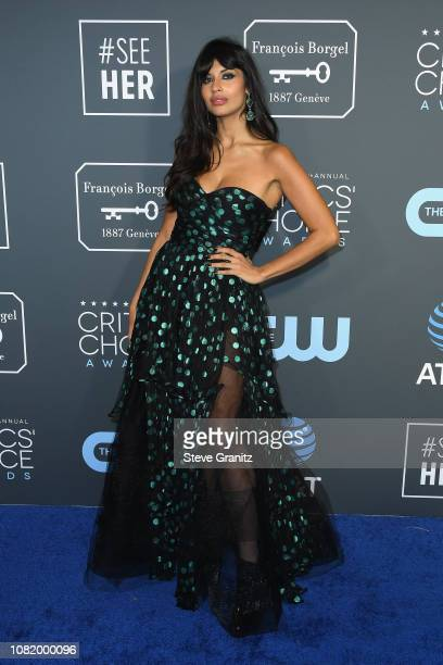 Jameela Jamil attends the 24th annual Critics' Choice Awards at Barker Hangar on January 13 2019 in Santa Monica California