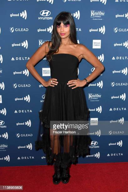 Jameela Jamil attends the 30th Annual GLAAD Media Awards at The Beverly Hilton Hotel on March 28 2019 in Beverly Hills California