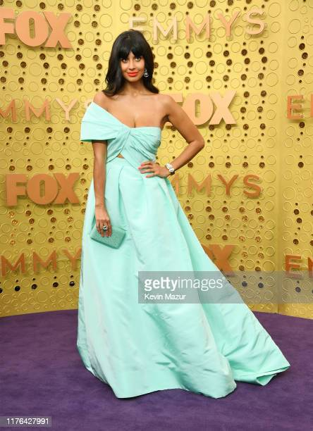 Jameela Jamil attends the 71st Emmy Awards at Microsoft Theater on September 22, 2019 in Los Angeles, California.