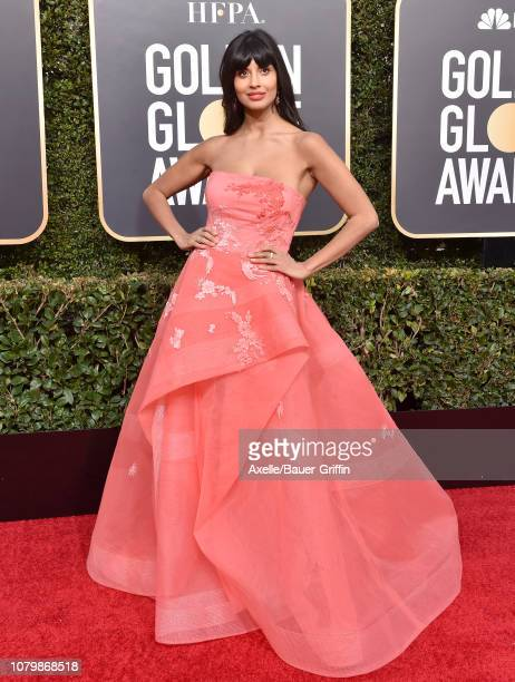 Jameela Jamil attends the 76th Annual Golden Globe Awards at The Beverly Hilton Hotel on January 6 2019 in Beverly Hills California