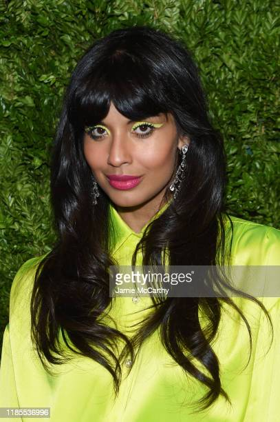 Jameela Jamil attends the CFDA / Vogue Fashion Fund 2019 Awards at Cipriani South Street on November 04 2019 in New York City