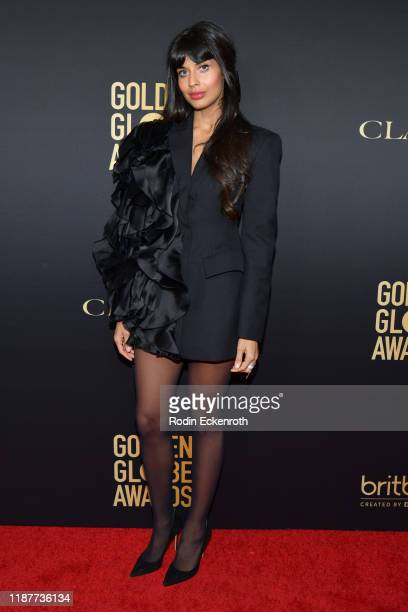 Jameela Jamil attends the HFPA And THR Golden Globe ambassador party at Catch LA on November 14 2019 in West Hollywood California