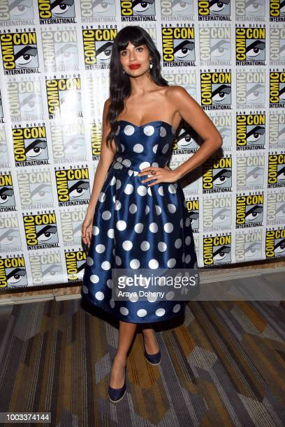 Jameela Jamil attends the 'The Good Place' Press Line during Comic-Con International 2018 at Hilton Bayfront on July 21, 2018 in San Diego,...