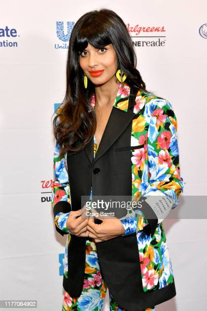 Jameela Jamil attends WE Day UN 2019 at Barclays Center on September 25, 2019 in New York City.