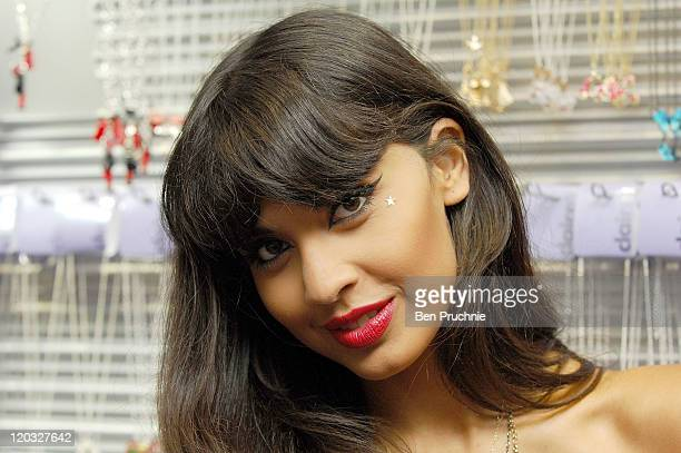 Jameela Jamil DJ's At The Claire's Flagship Store ReLaunch on August 4 2011 in London England