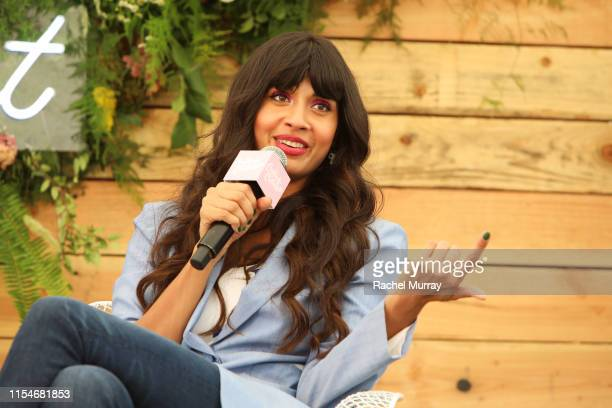 Jameela Jamil speaks onstage during Aerie REALTreat in Collaboration with Create Cultivate on June 08 2019 in Los Angeles California