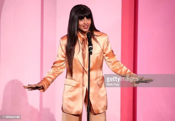 Jameela Jamil speaks onstage during Billboard Women In Music 2019, presented by YouTube Music, on December 12, 2019 in Los Angeles, California.
