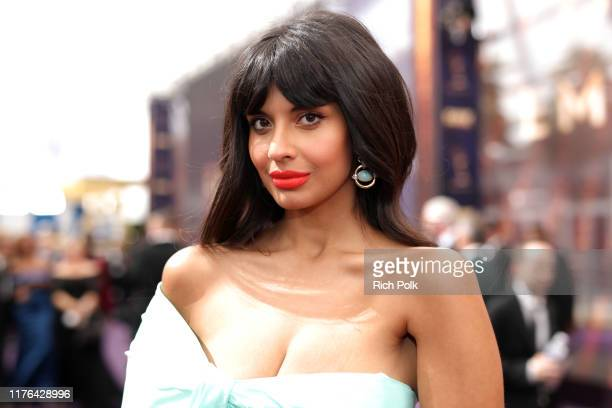 Jameela Jamil walks the red carpet during the 71st Annual Primetime Emmy Awards on September 22 2019 in Los Angeles California