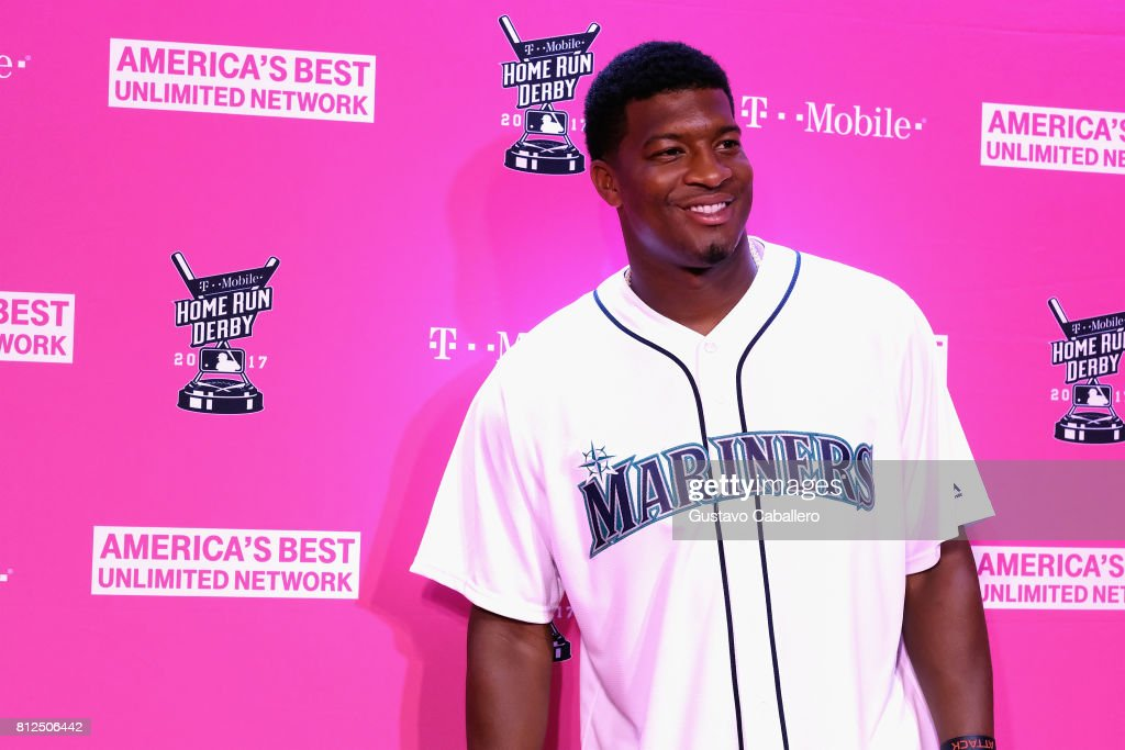 Jameis Winston arrives at the T-Mobile Presents Derby After Dark at Faena Forum on uly 10, 2017 in Miami Beach, Florida.