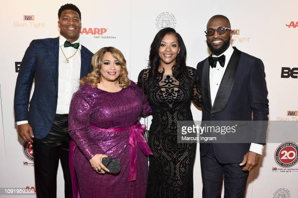Jameis Winston Melanie FewHarrison Breion Allen and Rickey Smiley attend the 2019 Super Bowl Gospel Celebration at Atlanta Symphony Hall on January...