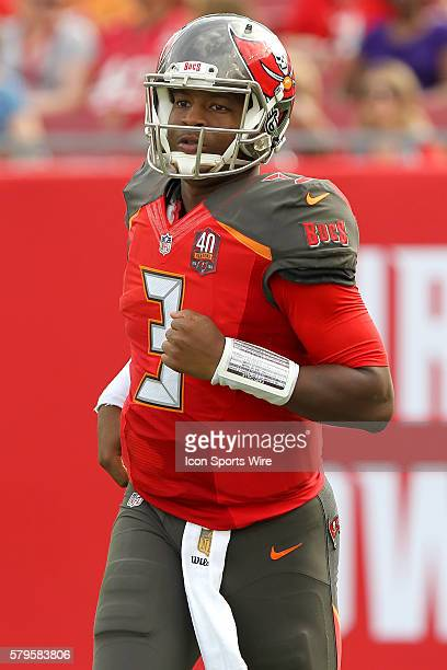 Jameis Winston of the Buccaneers during the NFL game between the Chicago Bears and Tampa Bay Buccaneers at Raymond James Stadium in Tampa FL