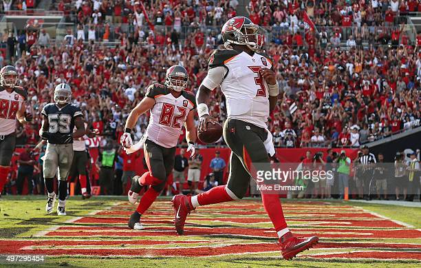 Jameis Winston of the Tampa Bay Buccaneers scores a touchdown during a game against the Dallas Cowboys at Raymond James Stadium on November 15 2015...