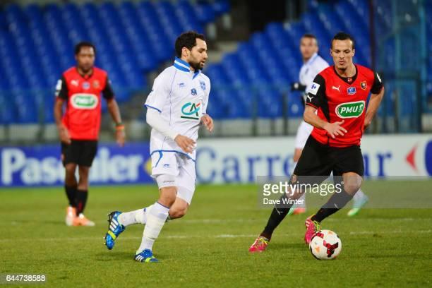 Jamel AIT BEN IDIR Auxerre / Rennes 1/8emeFinale Coupe de France Photo Dave Winter / Icon Sport