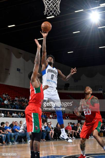 Jamel Artis of the Lakeland Magic shoots the ball against the Maine Red Claws during the NBA GLeague on February 23 2018 at RP Funding Center in...
