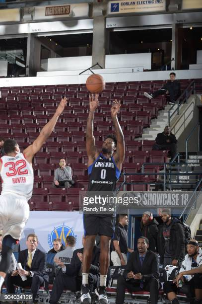 Jamel Artis of the Lakeland Magic shoots the ball during the game against the Memphis Hustle at the NBA G League Showcase Game 14 on January 11 2018...