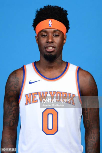 Jamel Artis of the New York Knicks poses for a portrait during 2017 Media Day on September 25 2017 at the New York Knicks Practice Facility in...