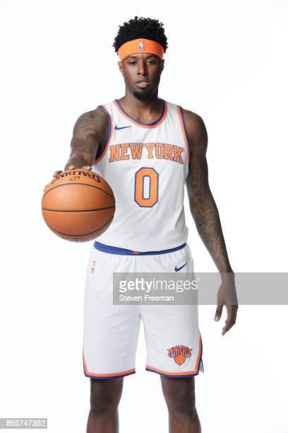 Jamel Artis of the New York Knicks poses for a portrait during Media Day on September 25 2017 at the Knicks Practice Center in Tarrytown New York...