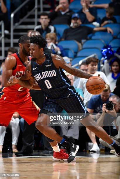 Jamel Artis of the Orlando Magic handles the ball against the New Orleans Pelicans on December 22 2017 at Amway Center in Orlando Florida Or NOTE TO...