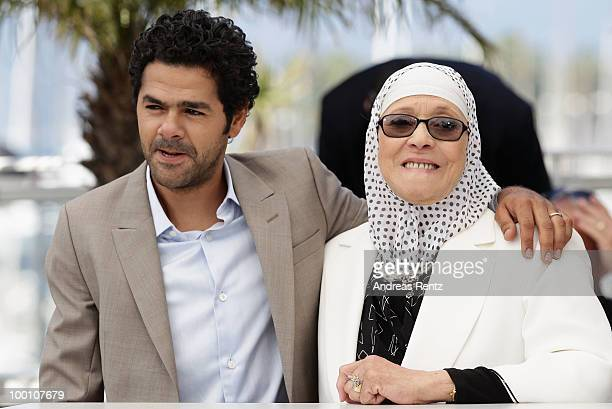 Jamel Debbouze and Chafia Boudraa attend the 'Outside Of The Law' Photocall at the Palais des Festivals during the 63rd Annual Cannes Film Festival...