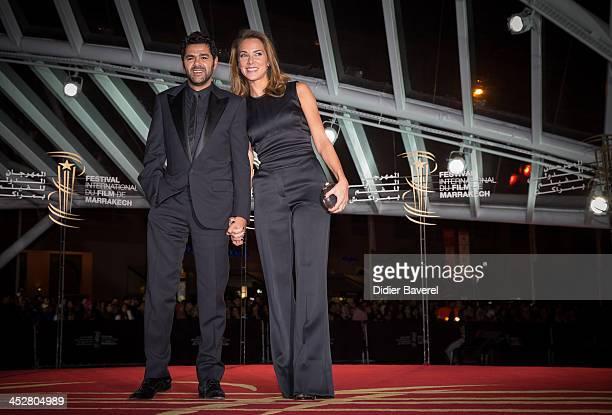 Jamel Debbouze and his wife Melissa Theuriau attend the 'Hirozaku Koreeda' evening at 13th Marrakech International Film Festival on December 1 2013...