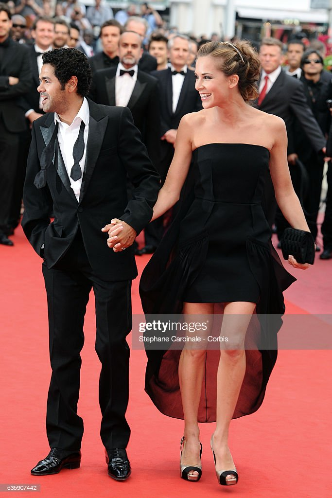 Jamel Debbouze and Melissa Theuriau attend the Premiere of 'Out of the law' during the 63rd Cannes International Film Festival