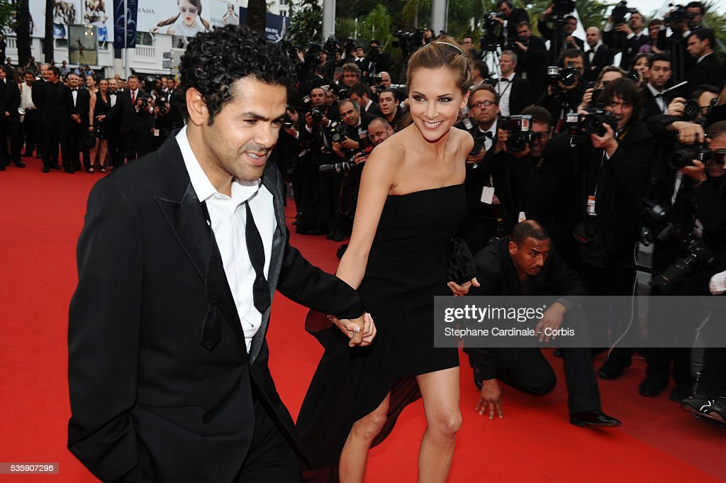 Jamel Debbouze and Melissa Theuriau attend the Premiere of 'Outside of the law' during the 63rd Cannes International Film Festival