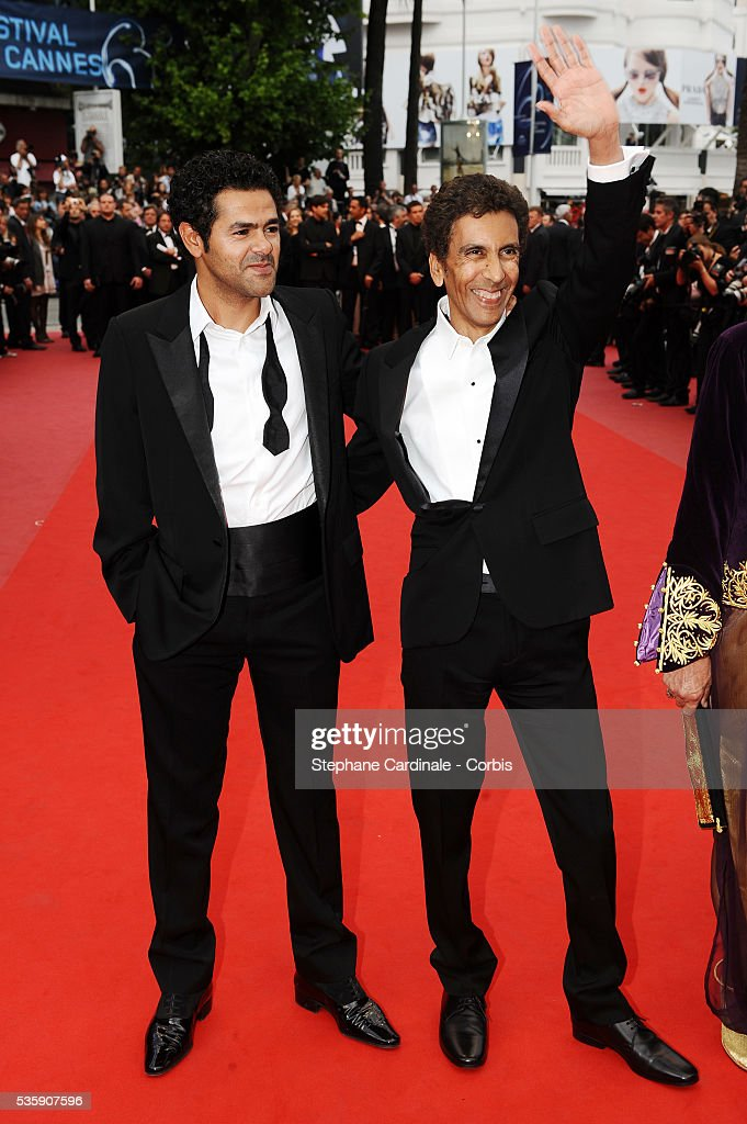Jamel Debbouze and Rachid Bouchareb attend the 'Outside of the law' Premiere during the 63rd Cannes International Film Festival