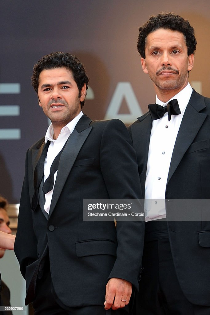 Jamel Debbouze and Sami Bouajila attend the Premiere of 'Outside of the law' during the 63rd Cannes International Film Festival