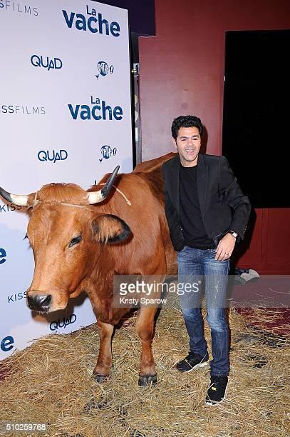 Jamel Debbouze attends the La Vache Paris Premiere at Pathe Wepler on February 14 2016 in Paris France