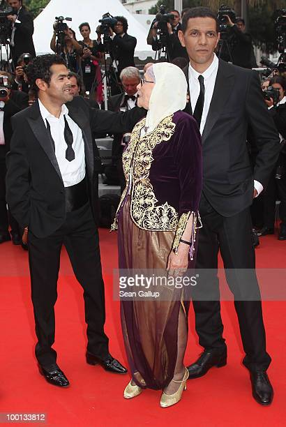 Jamel Debbouze Chafia Boudraa and Roschdy Zem attend the 'Outside Of The Law' Premiere at the Palais des Festivals during the 63rd Annual Cannes Film...