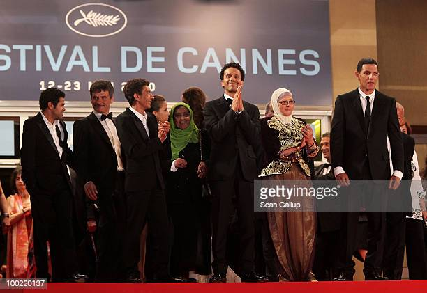 Jamel Debbouze Chafia Boudraa Rachid Bouchareb Melissa Theuriau Sami Bouajila and Roschdy Zem attend the 'Outside Of The Law' Premiere at the Palais...