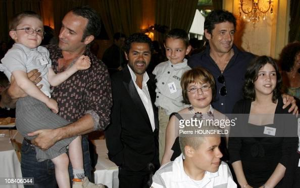 Jamel Debbouze Jean Dujardin Patrick Bruel And Children From News Photo Getty Images