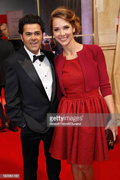 Jamel Debbouze President of the Cesar Awards 2013 ceremony and Melissa Theuriau arrive to attend the Cesar Film Awards 2013 at Theatre du Chatelet on...
