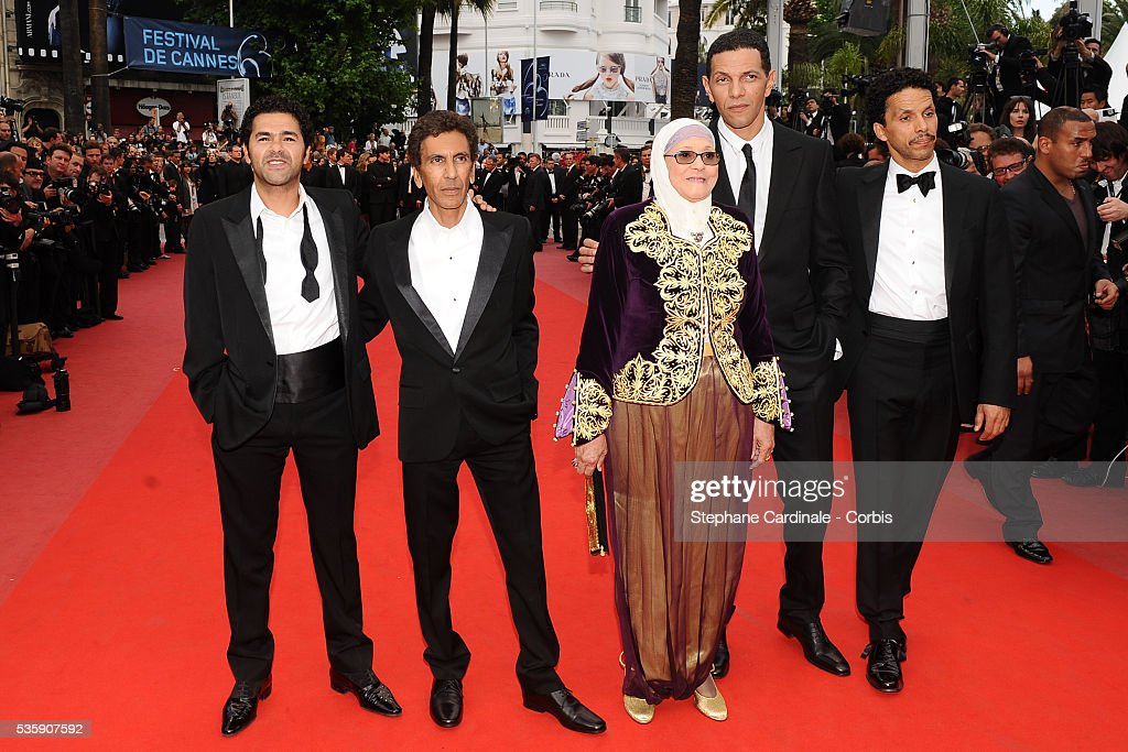 Jamel Debbouze, Rachid Bouchareb, Chafia Boudraa, Roschdy Zem and Sami Bouajila attend the 'Outside of the law' Premiere during the 63rd Cannes International Film Festival
