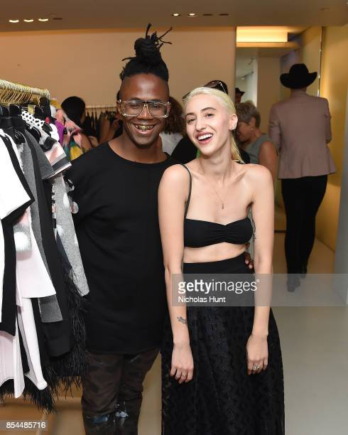 Jamel Robinson and Drue attend the MILLY x Laurie Simmons launch party to support Planned Parenthood at Milly Soho on September 26 2017 in New York...