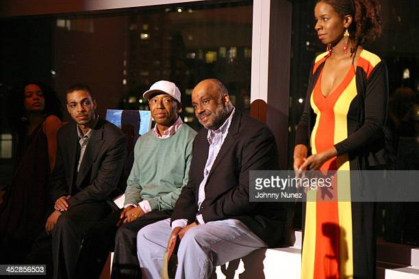 Jamel Russell Danny Simmons and Tangie Murray during Rush East New York Celebration Hosted By Russell Simmons at Time Warner Center in New York City...