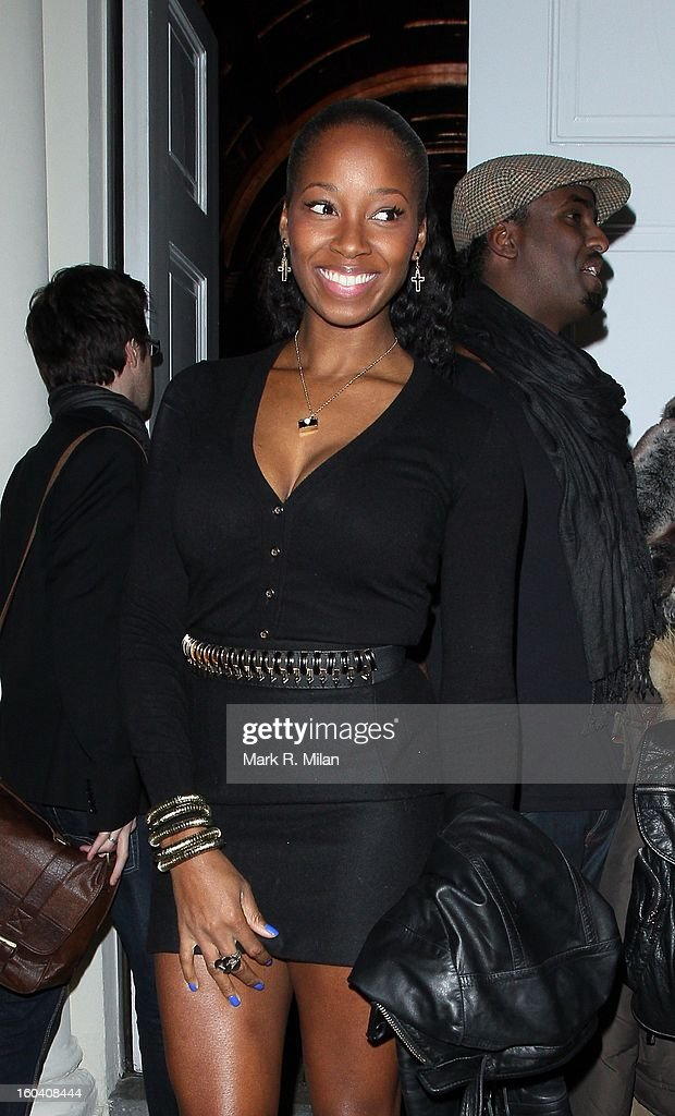 Jamelia attending the Diet Coke private party held at Sketch restaurant on January 30, 2013 in London, England.