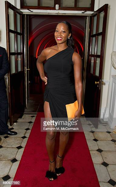 Jamelia attends a fundraising event in aid of the Nepal Youth Foundation at Banqueting House on October 1 2015 in London England