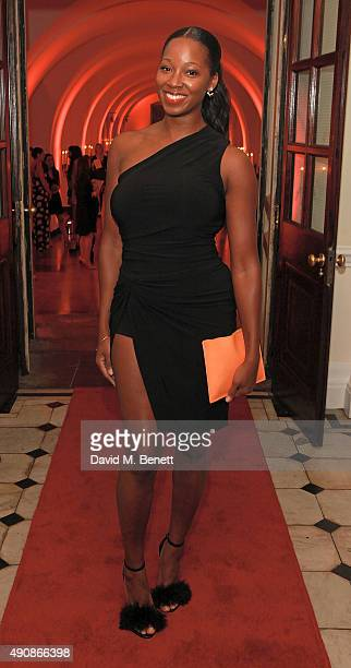 Jamelia attends a fundraising event in aid of the Nepal Youth Foundation hosted by David Walliams at Banqueting House on October 1 2015 in London...