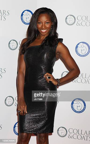Jamelia attends the Collars Coats Gala Ball at Battersea Evolution on November 8 2012 in London England