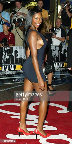 Jamelia Attends 'The Italian Job' Premiere In London'S Leicester Square.
