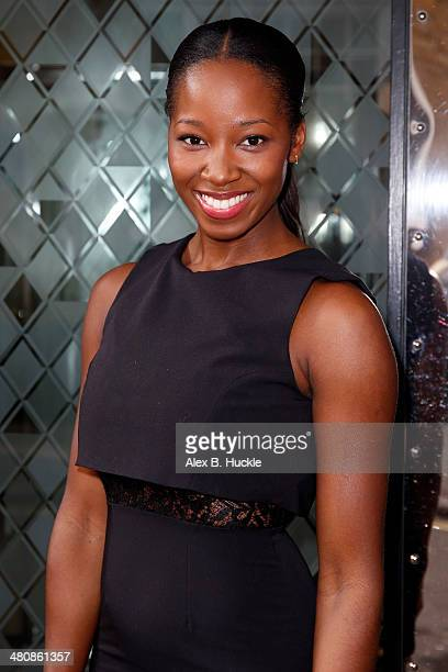 Jamelia attends the ROAR Global Hosts Business Breakfast In London at the Ivy Club March 27 2014 in London England