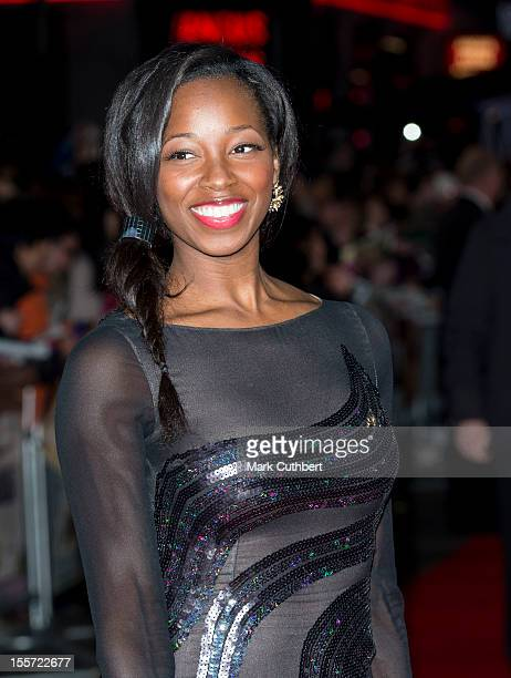 """Jamelia attends the World Premiere of """"Gambit"""" at Empire Leicester Square on November 7, 2012 in London, England."""