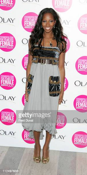 Jamelia during Cosmopolitan Fun Fearless Female Awards with Olay Red Carpet at Bloomsbury Ballroom in London Great Britain