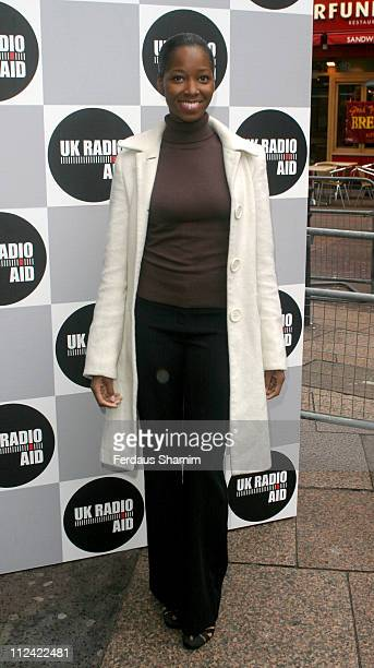 Jamelia during UK Radio Aid to Benefit Victims of the Asian Tsunami - Outside Arrivals at Capital Radio in London, United Kingdom.