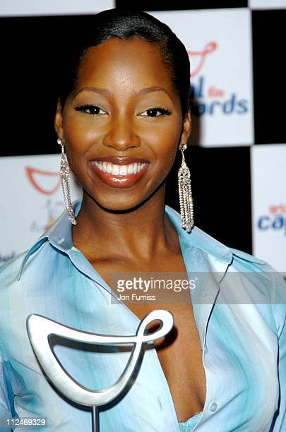 "Jamelia, winner of the ""Favorite UK Single"" during 2004 Capital FM Awards - Press Room at Royal Lancaster Hotel in London, Great Britain."